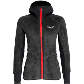 SALEWA Puez Warm PowerLite Full-Zip Hoodie Damen black out